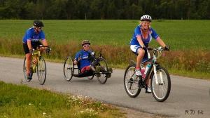 Syklister i Brunlanes. Foto: Reidar Nordkveldemoen ©