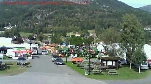 Dyrskuplassen fylles opp. Bildet er fra i dag, torsdag.