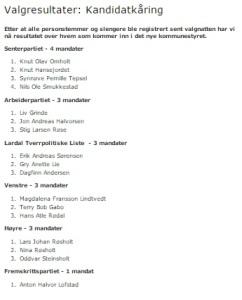 Nye LARDAL kommunestyre