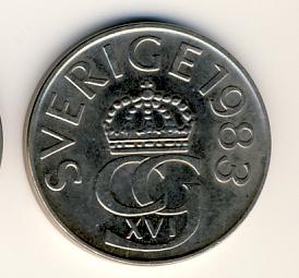 Svensk 5kr1988
