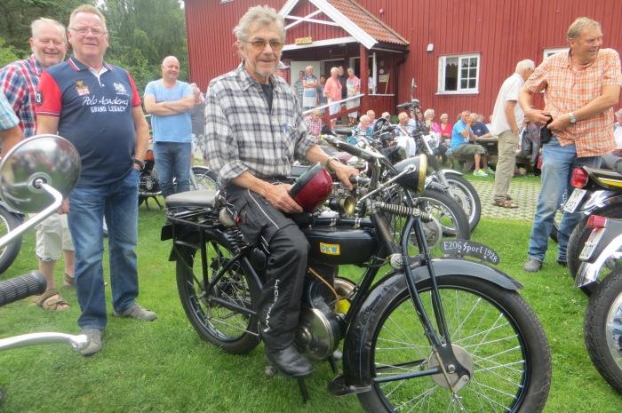Reidar Ottesen, vinner veteranmotorsykkelkonk. 2014, 13.7.14